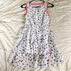 Guess lace back white dress with black butterflies